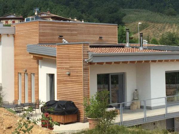 Case e ville prefabbricate in stile moderno wood beton for Ville stile moderno